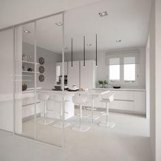 casa M.a Marsiglia 2016 -studio Lara Comino_ progetto Kitchen Furniture, Furniture Design, Table, Kitchens, Studio, Home Decor, Kitchen White, Home, Kitchen Units