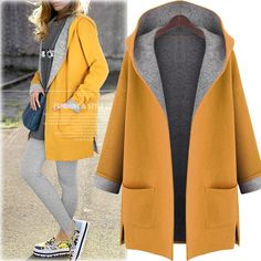 kKissb Hats Hat trench women solid warm trench coat para mulheres turn down pocket open stitch no zip no button plus size trench coat winter - Brand Name: Mlanxeue Plus Size Trench Coat, Winter Trench Coat, Fall Coats, Hooded Cardigan, Mode Hijab, Outerwear Women, Wool Coat, Autumn Fashion, Jackets For Women