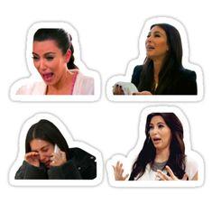 kim kardashian themed sticker pack 4 stickers in 1 pack price : 2 USD / 130 inr Meme Stickers, Snapchat Stickers, Tumblr Stickers, Phone Stickers, Diy Stickers, The Office Stickers, Kim Kardashian Meme, Kardashian Emoji, Planner Bullet Journal