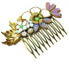 vintage wedding hair clip - lisamarie