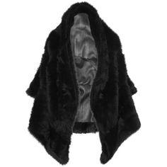 Gareth Pugh Shearling vest (36.065 VEF) via Polyvore featuring outerwear, vests, black, black shearling vest, holiday vest, black vest, vest waistcoat y gareth pugh