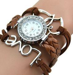 55c4ca15bb8 Náramkové dámské hodinky se zirkony hnědé Na tento produkt se vztahuje  nejen zajímavá sleva