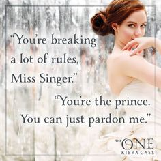 The One (The Selection by Kiera Cass - America and Maxon La Sélection Kiera Cass, Kiera Cass Books, The Selection Kiera Cass, The Selection Book, Fandoms Unite, Book Memes, Book Quotes, I Love Books, Good Books