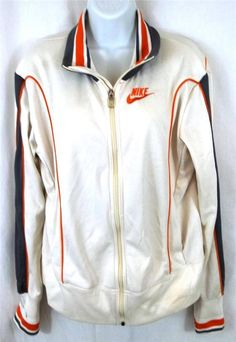 Nike Track Jacket Ivory White W/ Multi-Color Stripes Windbeaker Retro Womens XL #Nike #StandardJacket