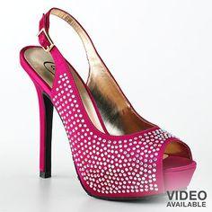 Black dress... pink peep toes.  YES!