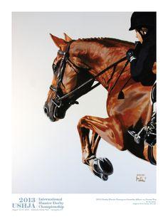 Official Limited Edition 2013 International Hunter Derby Poster  USHJA