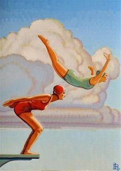"""Divers"" - Original Fine Art for Sale - © Robert LaDuke"
