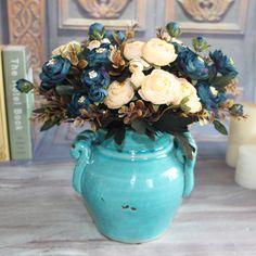 Grosir Bunga Sutra Buatan Palsu Bunga Peony Rumah Pesta Pernikahan Dekorasi Kamar Pengantin Dekorasi Nyata Sentuh