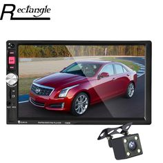 7080B 2 Din Car Radio DVD Player 7 Inch Touch Screen In Dash Auto Car MP4 MP5 Video Player Remote Control With Rear View Camera