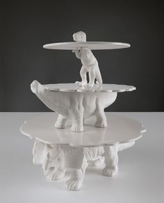 Sauria Dinosaur Cake Stands design by Seletti