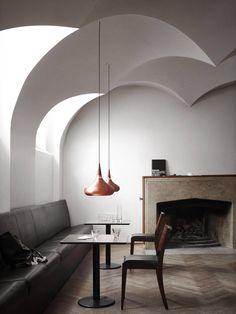 Interiors - Mikkel Mortensen.  Love the ceiling!