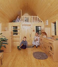 outdoor playhouse plans with loft | playhouse ideas Playhouse interior ideas Love the flooring Picture