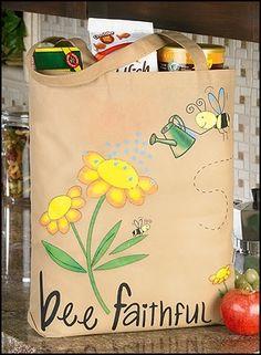 Bee Faithful Tote Bag