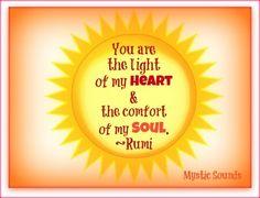 Light in heart quote via Www.Facebook.com/MysticSounds