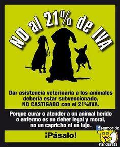 No al 21% de IVA.  Síguenos en Facebook: http://facebook.com/HumorDePandereta