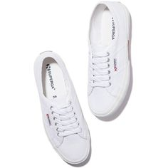 Superga 2750 COTU Classic Sneakers Goop ❤ liked on Polyvore featuring shoes, white shoes, superga and superga shoes