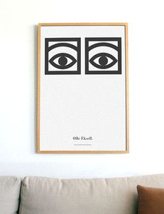 Olle Eksell Cocoa Eyes Poster, original layout from BoldModern on Etsy. Saved to Artwork. Graphic Design Illustration, Illustration Art, Olle Eksell, Industrial Wall Art, Top 10 Christmas Gifts, Layout, Poster Wall, Design Art, Interior Design