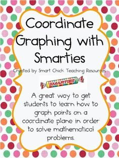 Coordinate Graphing with Smarties Candies ~ FREE!