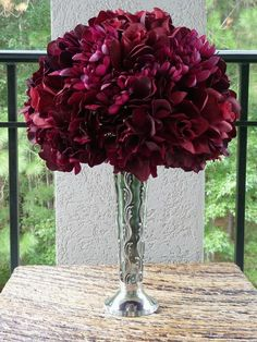 burgandy and white centerpieces - Bing Images