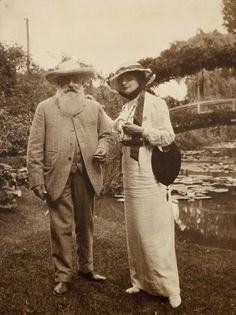 Claude Monet et Charlotte Lysès,  Giverny 1915 -by Sacha Guitry