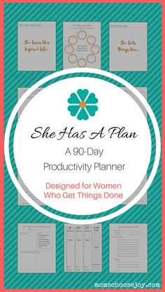 Did you know that 90-Days (or 13-weeks) has been shown to be the sweet spot for goal-achieving success? The reason for this is that you can easily envision what you can get done in a 90-Day period. When you can clearly envision your future success, you are more likely to be successful. This 90-Day Productivity Planner will put on the path to living your most organized, productive, and purpose-filled life. Click for more information. #planner #productivityplanner