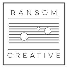 Ransom Creative logo designed by Charis Rountree at Rountree Design Co. https://www.tylerrountree.com #design #business #branding #logo #color