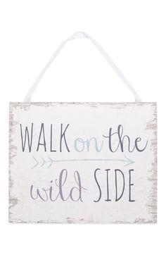 Primark - Letrero «Walk on the wild side» 1,50e