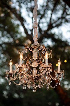 A Stunning Crystal Chandelier For Garden Parties / Decoration Chandelier Bougie, Antique Chandelier, Chandelier Lighting, Chandelier Ideas, Crystal Chandeliers, Outdoor Chandelier, Outdoor Lighting, Chandelier Makeover, Lighting Ideas