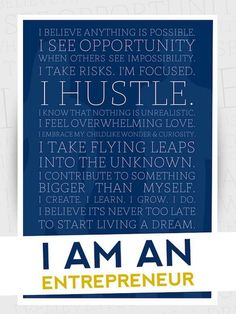 Poster gift for the #entrepreneur or go-getter in your life!