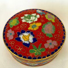 Red Enamel Feng Shui Jewelry Box