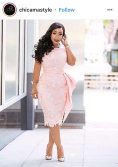 Life is Peachy — Kenia Nunez Designs African Lace Styles, African Lace Dresses, African Fashion Dresses, Nigerian Lace Dress, Dressy Dresses, Event Dresses, Dress Outfits, Lace Dress Styles, African Print Fashion