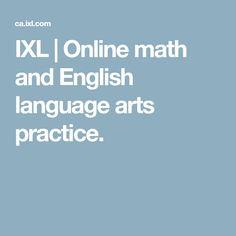 IXL | Online math and English language arts practice.