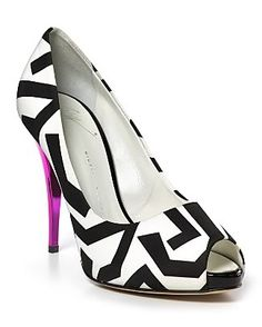 I'm partial to black and white shoes with pizzazz