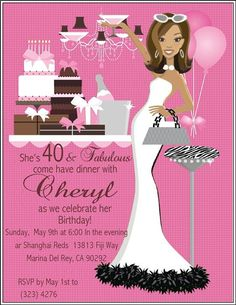 40 and fabulous party ideas | Fabulous Me Pink! Fabulous Birthday Party Silver Betty Boop Birthday ...