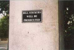 bill stickers is innocent - oh man, lol.