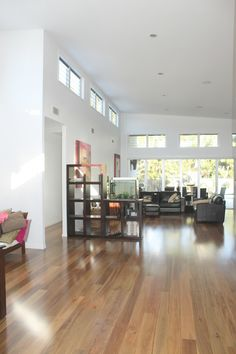 Timber flooring Gold Coast Spotted Gum Engineered can be installed as floating floor or glue down, huge open living area