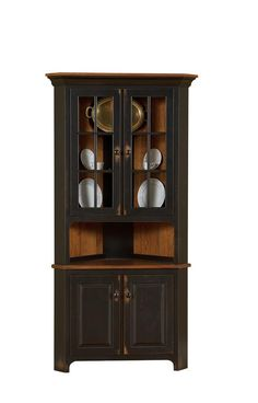 Exceptional Amish Plymouth Corner Hutch. Dining Room ...