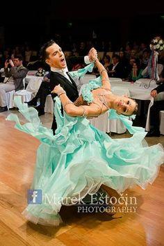 Aqua Blue Ballroom Dress - For Sale Selavidance.com #103OFAR03