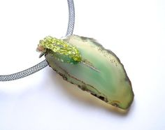 Pendant  Woodland Agate  double sided  by by SchneiderGallery, $38.00