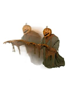 Lunging Pumpkin Animated Decoration exclusively at Spirit Halloween - Watch out! He's gonna getcha! Decorate your haunted house using the Lunging Pumpkin Animated Decoration on Halloween and freak out all of your guests. Get yours in time for only $199.99