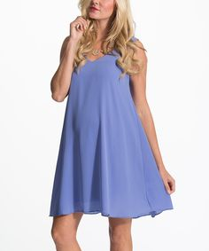 Look at this PinkBlush Periwinkle Chiffon Maternity Swing Dress on #zulily today!