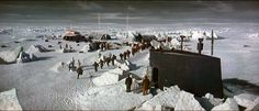 """The """"Ice Station Zebra"""" studio set was extended using Matthew Yuricich's stunning matte paintings."""