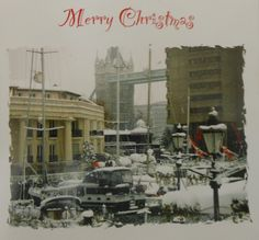 Charity Christmas card featuring St Katharine Docks in the snow, supporting R.N.L.I. On sale at Nauticalia (or contact me direct).