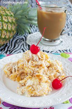 Pina Colada No Bake Cookies and Vanila Iced Café #MyIcedCafe