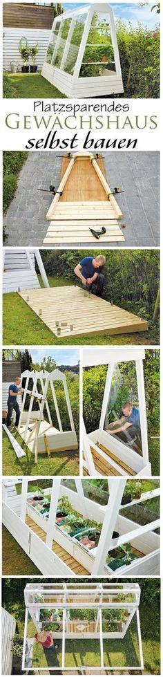 Ein Gewächshaus muss nicht immer riesengroß sein. Wir zeigen den Bau eines platzsparenden Gewächshauses, welches auch in kleinen Gärten einen Platz findet.