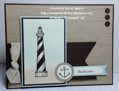 Stampin' By The Bay: Set of three Nautical Cards - From Land to Sea