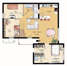Plan habillé Rez-de-chaussée - maison - Maison modulable