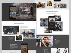 MotoDiscovery app promo website by Jason Kirtley