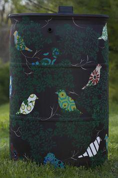 Claire Pope's artistic rain barrel for Bluegrass PRIDE's Roll out the Rain Barrels campaign.