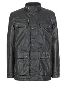 Pure Cotton Military Jacket with Stormwear™   M&S